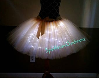 LED tutu** /Children to adult Tutu costumes/ Light up tulle skirts (33 colors available)