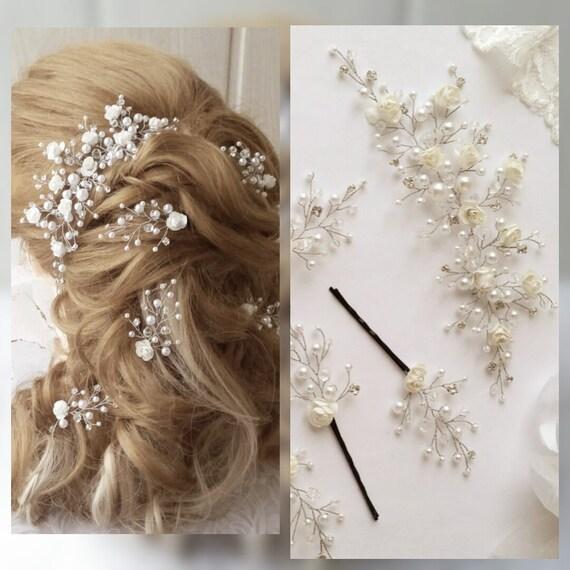 vigne de cheveux longs cheveux broches mariage cheveux de. Black Bedroom Furniture Sets. Home Design Ideas