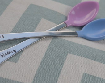 Personalized Hand Stamped Baby Spoon