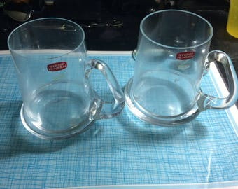 Vintage Svend Jensen crystal mugs