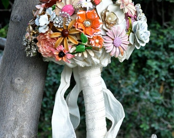 CUSTOM Whimsical Vintage Bridal Brooch Bouquet - to fit your style, budget & colors - plus lifetime guarantee