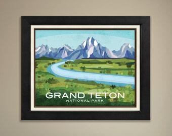 Grand Teton National Park Framed Print