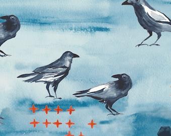 Blackbird, Organic Cotton Fabric, Journey Monaluna