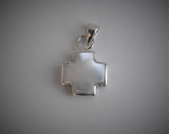 Sterling Silver reversible with moonstone Pendant