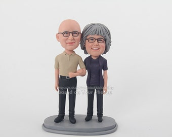50th wedding anniversary gift-personalized gift for wedding- unique wedding bobblehead for couple- anniversary present for  her