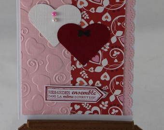 Card, Valentine card, declaration of love, love, hearts