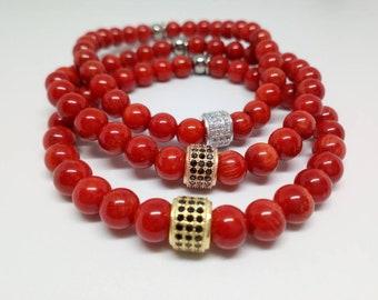 Fortune bracelet in Coral.