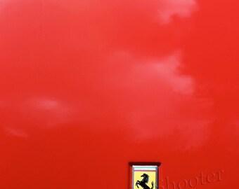 Ferrari Fine Art Photo Hood Racing Red Vintage Classic Rosso Corsa