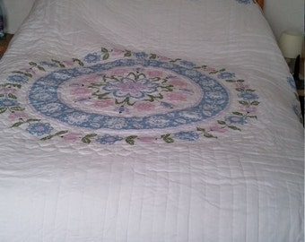 Cross Stitch Quilted Bedspread