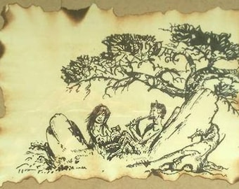 Pan Playing the Flute with Nymph and Mead - Print!