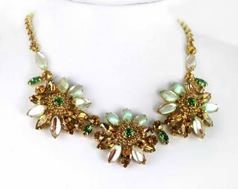 Incredible Sappharine /Saphiret Necklace & Earrings Set by Weiss