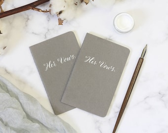 Wedding vow books.  Calligraphy Vow booklets. Personalised vow booklets. Engagement gift. His and her vow books.  Vow notebook. Wedding Vows