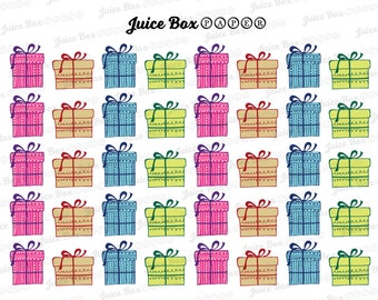 Set of 40 Multicolored Gift Boxes for Various Planners, Calendars, Journals