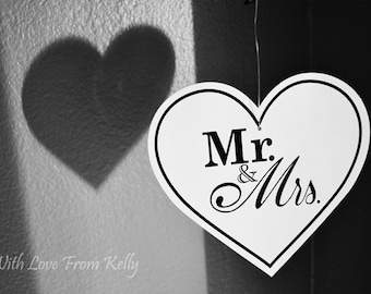 Mr and Mrs black and white fine art photography