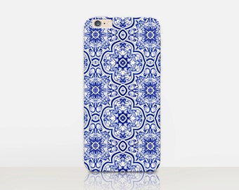 Vintage Tiles Phone Case For- iPhone 8, 8 Plus, X, iPhone 7 Plus, 7, SE, 5, 6S Plus, 6S, 6 Plus, Samsung S8, S8 Plus, S7, S7 Edge