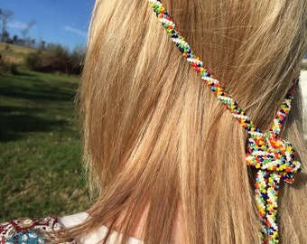 Tribal Bead Rope Necklace