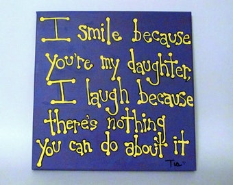 Daughter Gift, Daughter Quotes, Gifts for Daughter, Canvas Art, Canvas Quotes, Canvas Art Quotes, 12x12 Canvas Art