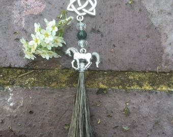 Horse hair hanging /bag charm