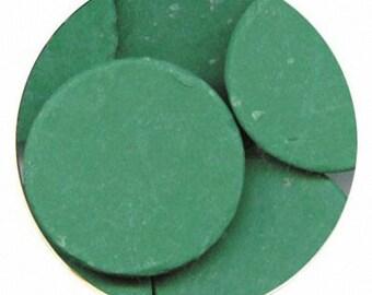 Dark Green 16 oz Merckens Confectionery Coating - Chocolate Melts 16 ounce bag 1 lb pound bag Disks