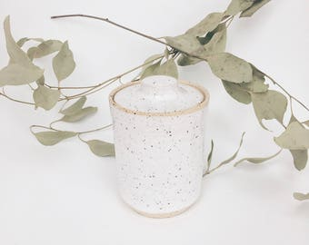 Speckled ceramic jar, ceramic tea jar, Ceramic vessel, lidded vessel, lidded jar, ceramic lidded vessel