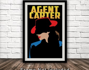 Marvel's Agent Carter-Inspired Poster - Minimalist, Fan Art