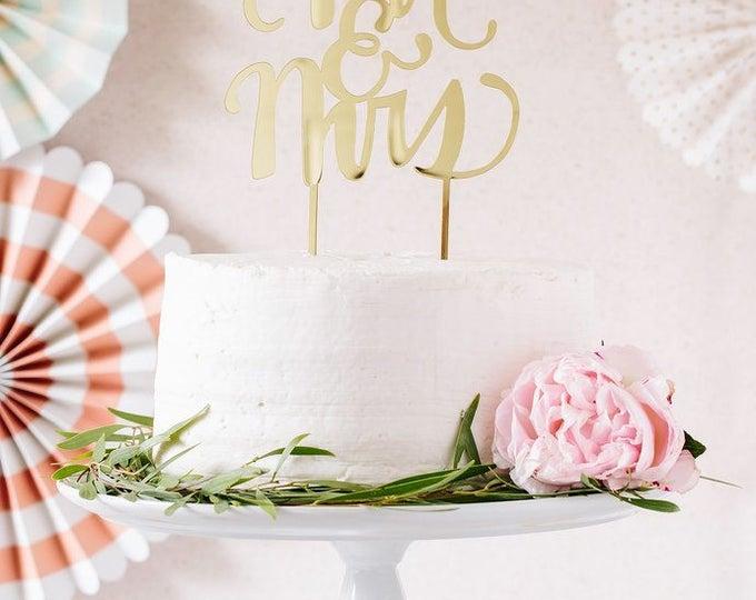 Mr & Mrs Cake Topper, Mr and Mrs C ke TopperAcrylic Cake Topper, FYP303 Gold MR and Mrs Cake topper, Anniversary Topper