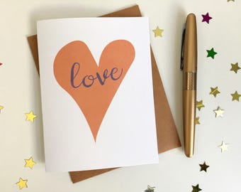 Love Card! Valentine's Day, Wedding, Engagement, Anniversary Card