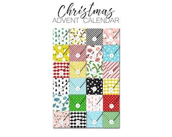 Christmas Advent Calendar - DIY Envelope Kit