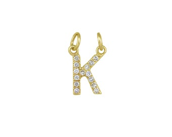 14k Yellow Gold initial Charms E14YC240