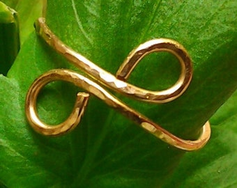 Infinity Gold Ring,14K Gold filled / Sterling silver