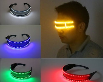 GLASSES LEDS - green blue red yellow white.