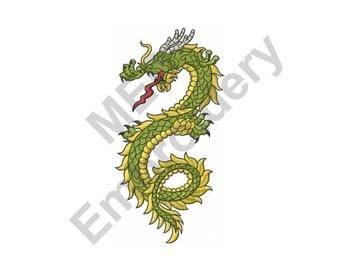 Dragon - Machine Embroidery Design, Asian Dragon
