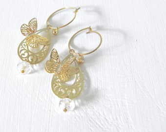 3D Buttefly earrings