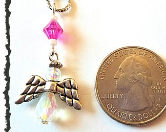 Hearing Aid Charms: Glass Beaded Angels (also available in earrings and matching Mother Daughter Sets )!