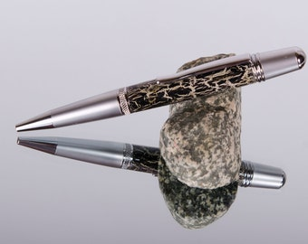 Twist Ink Pen-Birthdays-Acrylic Pen-Chrome-Pen Gifts-Writing Pens-Handmade-Handcrafted-Pen Gifts-Office Gifts-Ball Point-Custom Ink Pen #154