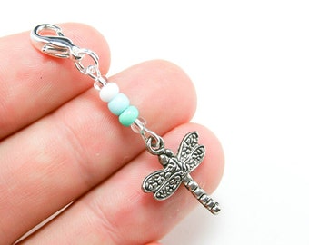 Dragonfly Charms. Girls Party Favours. Clip on Zipper Charms. Dragonfly Keychains. BSC039