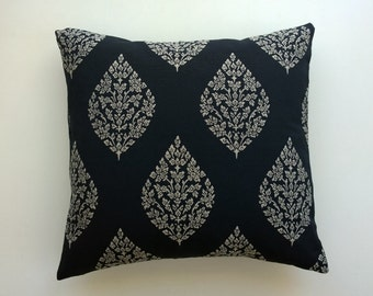 Black pillow cover,   sale, decorative pillow 16x16, 18x18, chevron black and white pillow cover, chevron ikat Toss Pillow Cover
