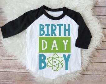 Science birthday shirt, science birthday party, science theme, boy birthday, boy party, custom boys birthday shirt