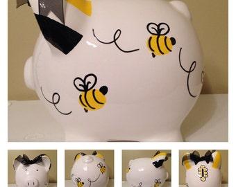 Lizzie Buzzing Bees Piggy Bank