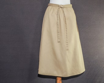 Perfect A-line wrap skirt - neutral tan