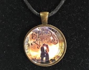 Princess Bride inspired, golden pendant necklace