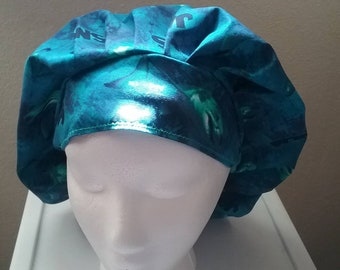 JAWS bouffant scrub hat
