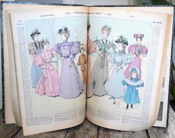 Antique fashion book, La Mode du Jour, France, 1894/1895