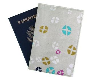 Hot cross buns passport cover, passport holder, travel wallet, stylish passport case, yellow passport sleeve, handmade in Australia