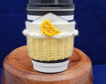 Lemon Cream Cupcake Coffee Cup Cozy