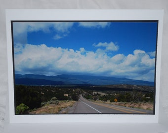photo card, Turquoise Trail, Albuquerque, NM