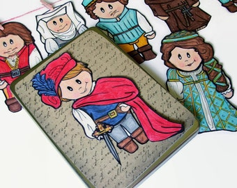 Educational Toy for Kids, William Shakespeare Dolls, Romeo and Juliet Miniature Dolls, Shakespeare Refrigerator Magnet, Travel Toy