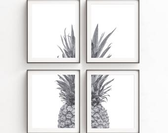 Pineapple, Print Set, Modern Art Set, Gift for Mom, Pineapple Decor, Christmas Gift, Fruit, Pineapple Wall Art, Wall Print, Poster, Large