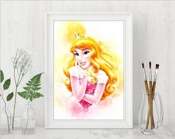 Disney Princess Aurora Printables Sleeping Beauty Print Disney Princess Instant Download Disney Birthday Printable Art n572