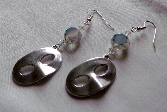 Phantom of the opera earrings - parade - large silver mask charm earrings - costume -theater -  mardi gras earrings - Lizporiginals